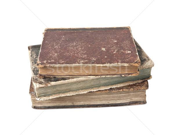 Antique books isolated Stock photo © klikk