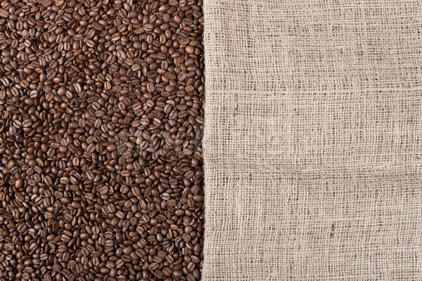 Koffiebonen doek afbeelding veel zak vulling Stockfoto © klikk