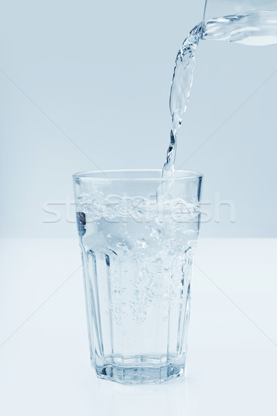 Water poured into a glass Stock photo © klikk