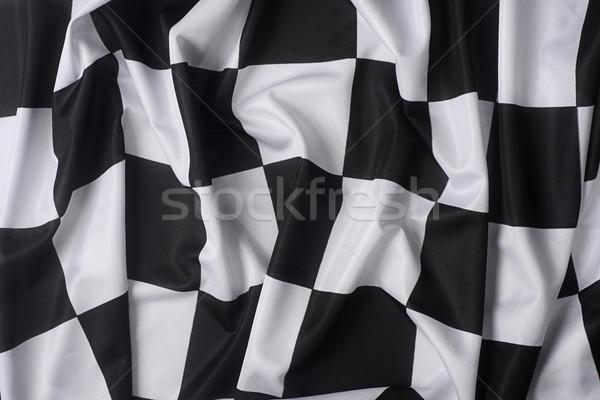 Real waving checkered flag Stock photo © klikk