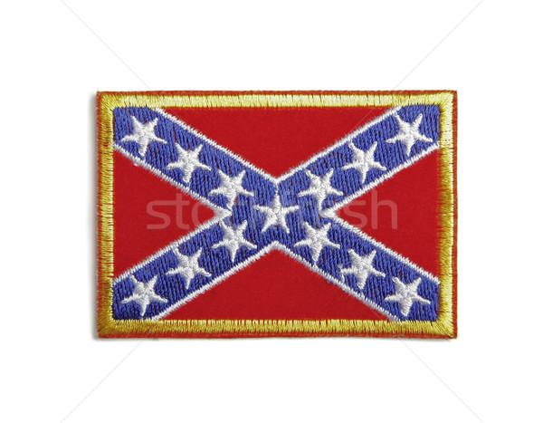 Confederate flag badge Stock photo © klikk