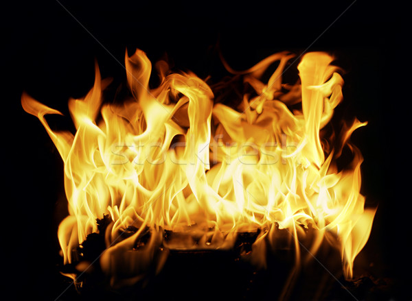 Fireplace Stock photo © klikk