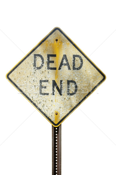 Weathered dead end sign Stock photo © klikk