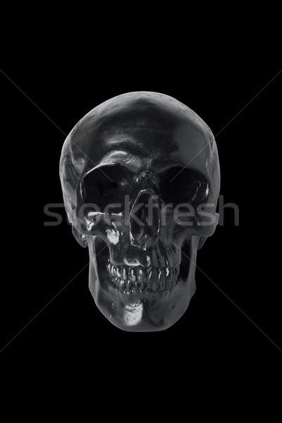 Black skull isolated Stock photo © klikk