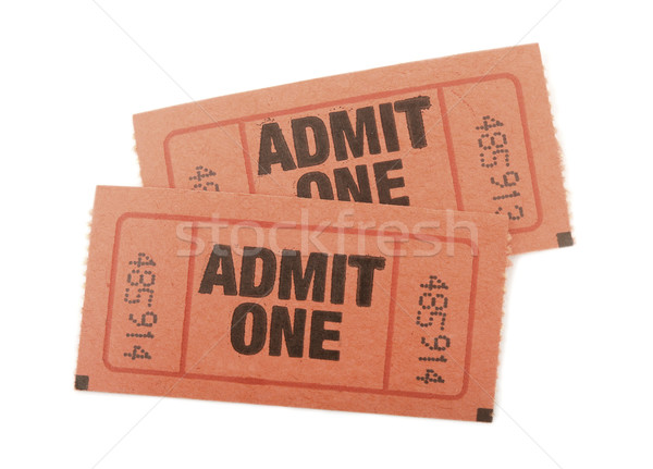 Admit one tickets Stock photo © klikk