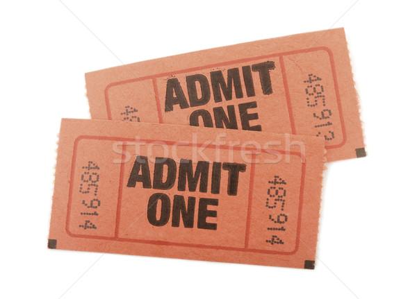 Een tickets evenement geïsoleerd witte papier Stockfoto © klikk