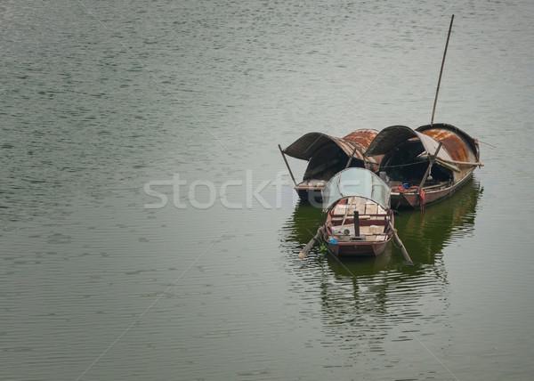 Trois rouge rivière vieux Photo stock © Klodien