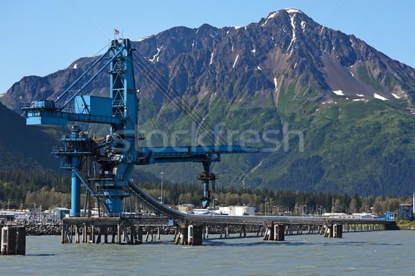 Instalación carbón buques Alaska movimiento cinturón Foto stock © Klodien