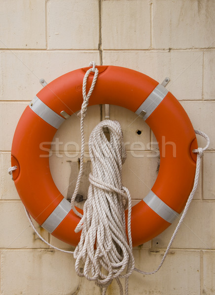 Life buoy with rope. Stock photo © Klodien