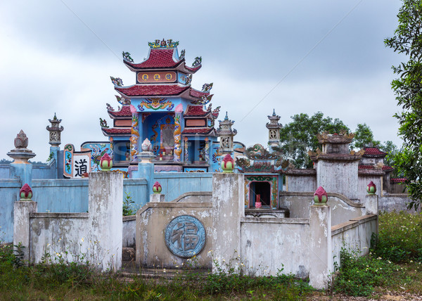 Vietnam Quang Binh Province: Family grave yards with shrines. Stock photo © Klodien