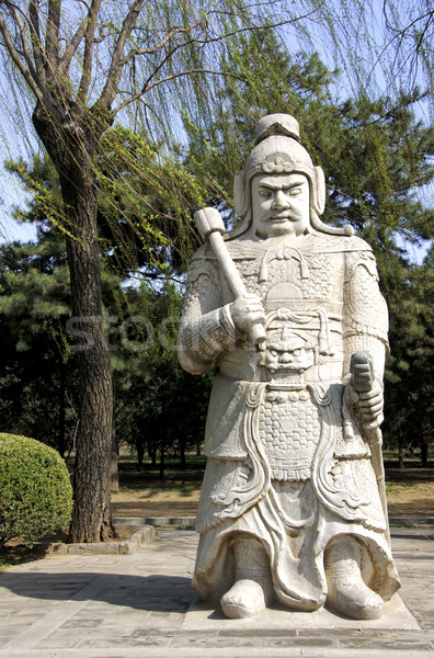 Ming Tombs: statue of warrior. Stock photo © Klodien