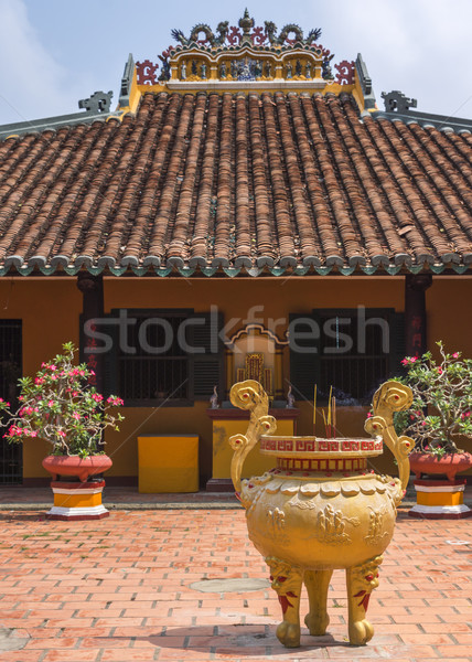 Temple Building at Giac Lam Buddhist Pagoda in Saigon. Stock photo © Klodien