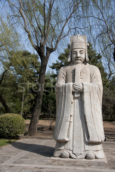 Ming Tombs: statue of bureaucrat. Stock photo © Klodien