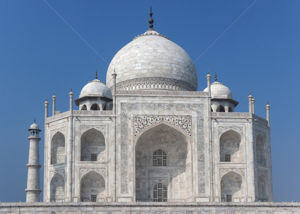 Taj Mahal mausoleum in the morning sun at India's Agra. Stock photo © Klodien
