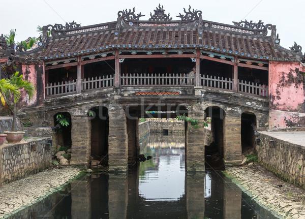 Japonais pont temple Viêt-Nam Photo stock © Klodien