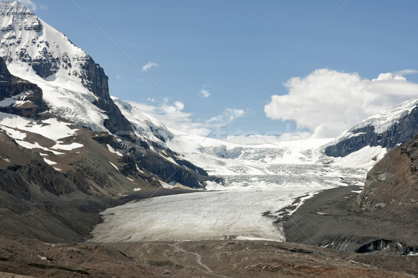 Glacier vallée au-dessous blanche bleu brun Photo stock © Klodien
