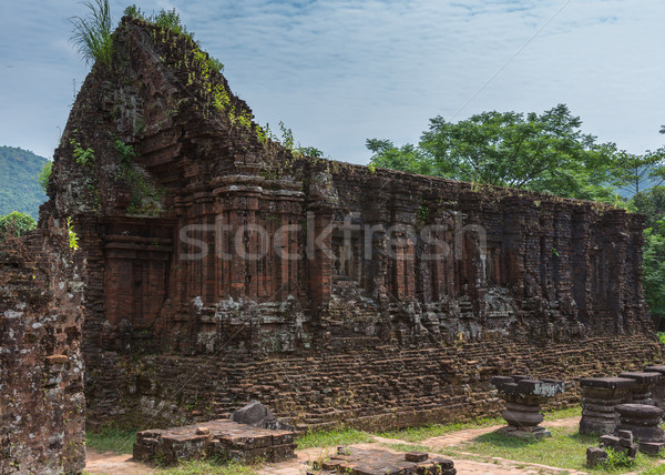 Roofless structure at My Son Cham towers. Stock photo © Klodien