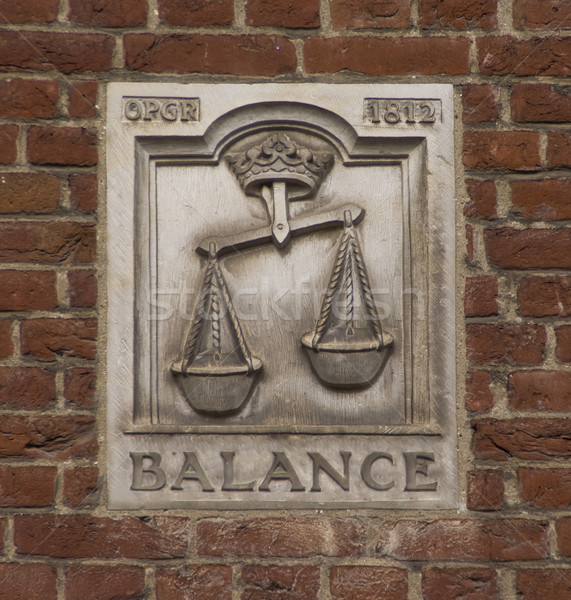Balance mural Stock photo © Klodien
