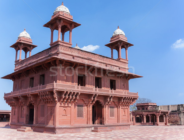 Stock photo: The Hall of Private Audience at Fatehpur Sikri palace and fort.