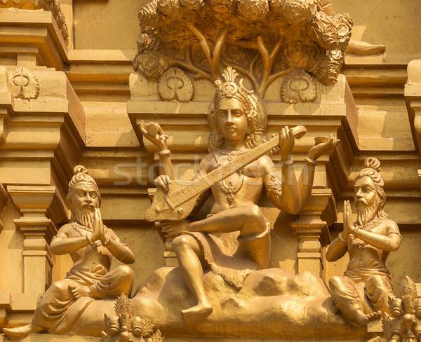 Bogini świątyni szczegół złoty wejście wieża Zdjęcia stock © Klodien