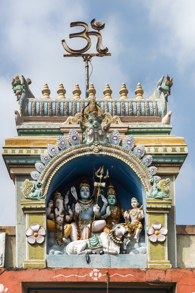 Shiva famille statue femme deux Bull Photo stock © Klodien