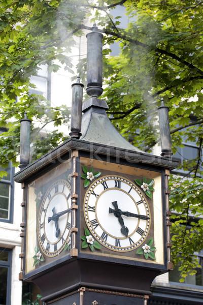 пар часы улиц исторический бизнеса время Сток-фото © Klodien