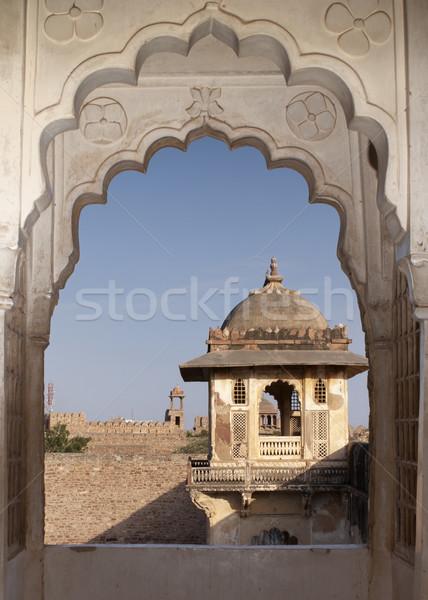 глядя крыши удвоится павлин арки дворец Сток-фото © Klodien