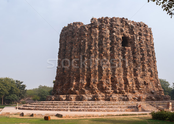 Stupa like bottom of a second never finished minaret at Qut'b Minar. Stock photo © Klodien