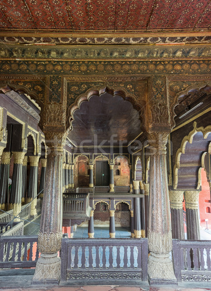 Upper floor of Tipu Sultan Palace in Bangalore. Stock photo © Klodien