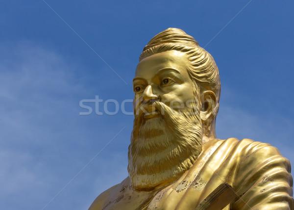 Heykel Hindistan muhteşem yazar etrafında başlatmak Stok fotoğraf © Klodien