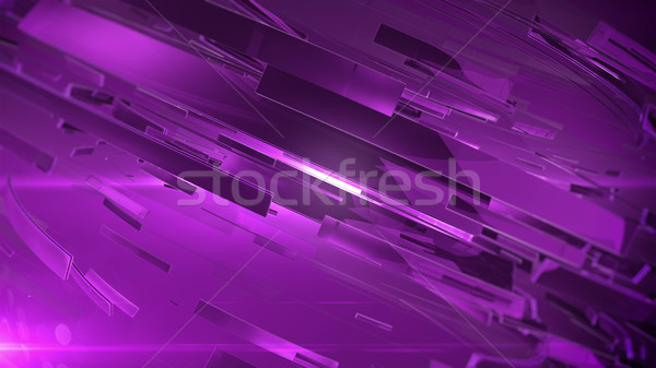 Abstract 3D paars kleuren technologie Stockfoto © klss