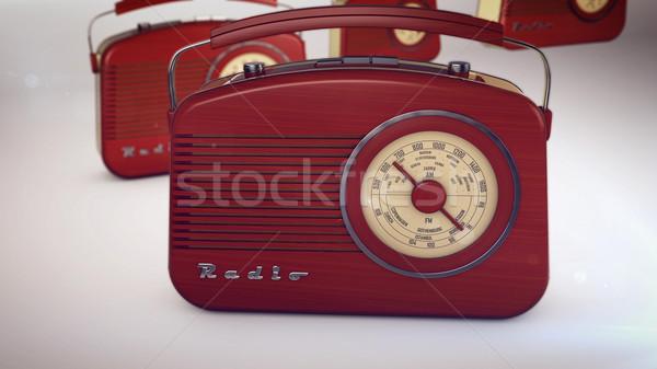 ラジオ 3D レンダリング 技術 背景 スピーカー ストックフォト © klss
