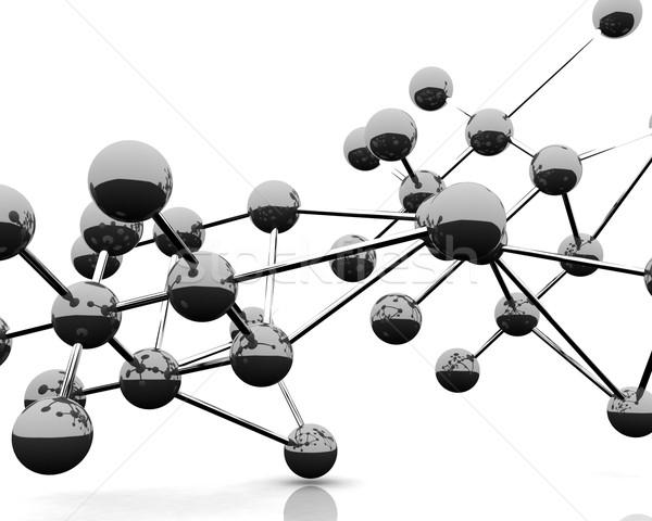 Abstrato molecular estrutura 3d render ver moléculas Foto stock © klss