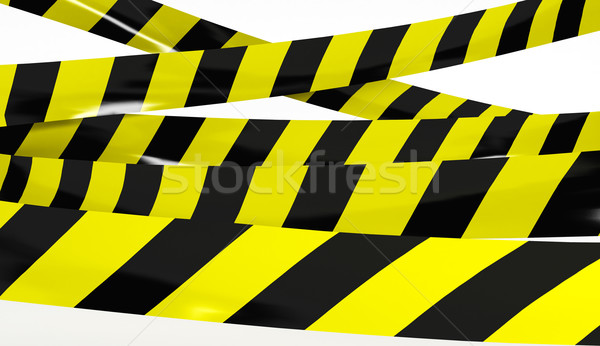 Restrictive tape yellow and black colors. Stock photo © klss