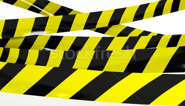 テープ 黄色 黒 色 3dのレンダリング クロス ストックフォト © klss