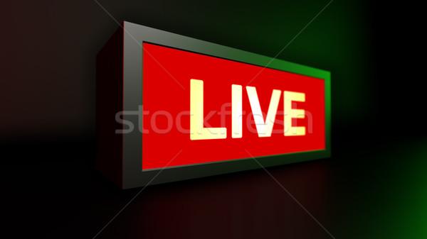 Yaşamak uyarı tahta mesaj 3d render arka plan Stok fotoğraf © klss