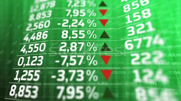Giełdzie cena Widok biały zielone monitor Zdjęcia stock © klss