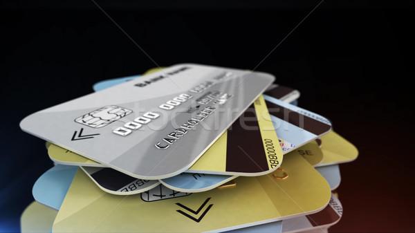 Banque cartes 3D Photo stock © klss