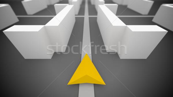 のGPS  ナビゲーション 単純な 3D 建物 地図 ストックフォト © klss