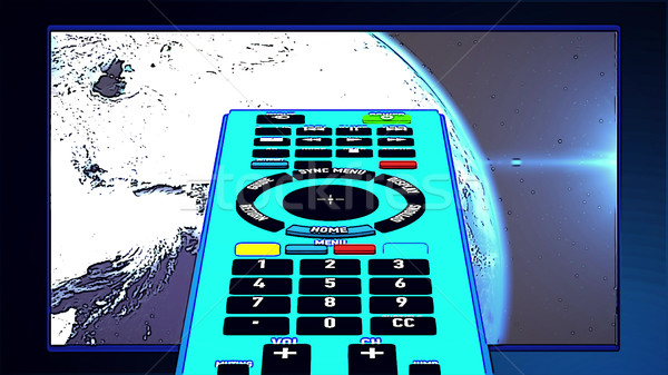 Remote controller in cartoon-style Stock photo © klss