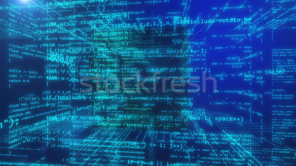 Abstract programming data code Stock photo © klss