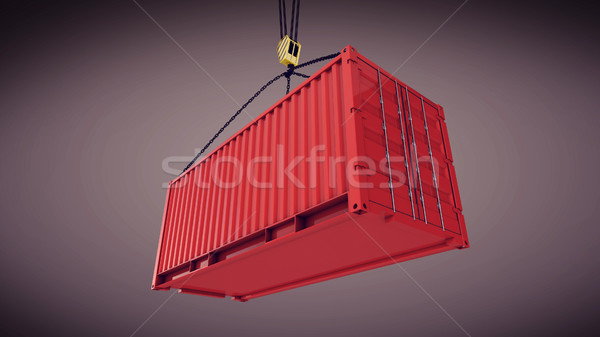 Zee container 3D haven kraan Stockfoto © klss