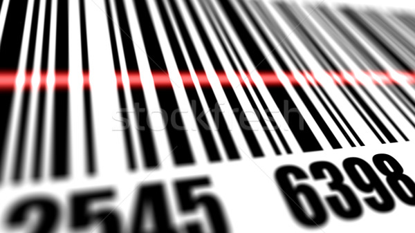 Primo piano scanner barcode poco profondo business computer Foto d'archivio © klss