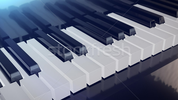 Hangversenyzongora billentyűzet 3D renderelt kép klasszikus dzsessz Stock fotó © klss
