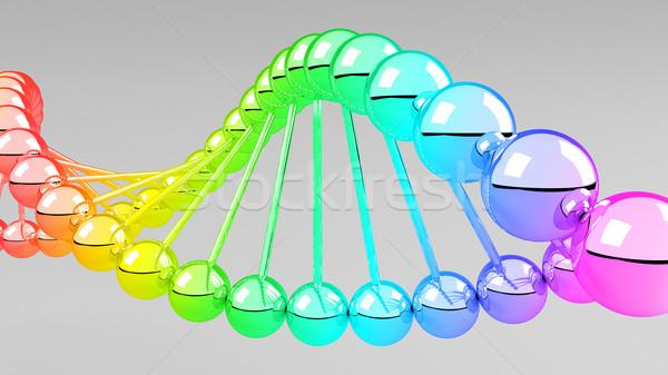 Digitális illusztráció DNS struktúra 3D orvosi technológia Stock fotó © klss
