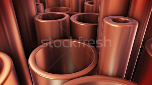 медь Трубы промышленности 3D Сток-фото © klss