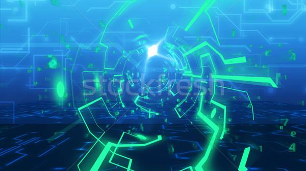 Résumé technologie tunnel 3D imitation Photo stock © klss