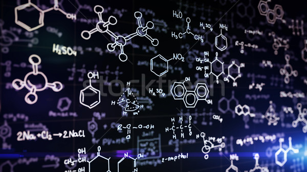 Chemical formulas on blue  Stock photo © klss