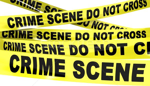 Cena do crime não atravessar fita amarelo plástico Foto stock © klss