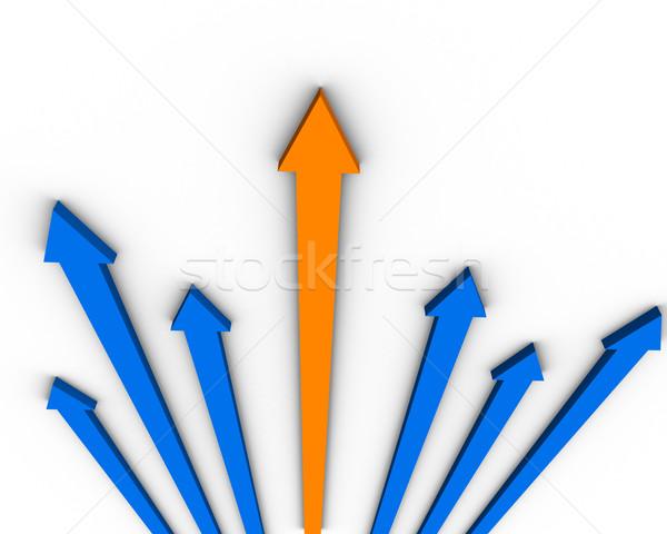 Pijl abstract achtergrond tekening grafische creatieve Stockfoto © klss